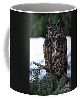 Wise Old Owl Coffee Mug by Sharon Elliott
