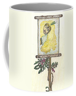 Coffee Mug featuring the drawing Wish And Tell by Kim Pate