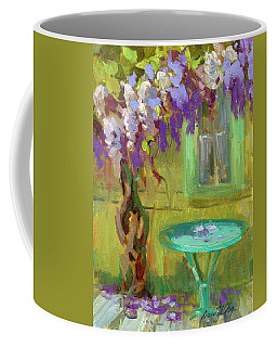 Wisteria At Hotel Baudy Coffee Mug by Diane McClary