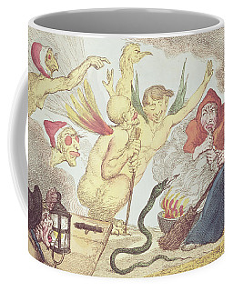 Witches In A Hayloft Engraving Coffee Mug