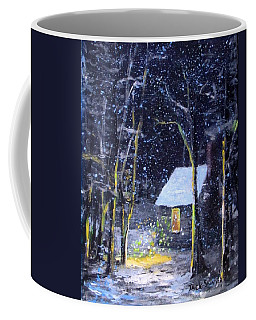Wintery  Night At Thoreau's Cove Coffee Mug