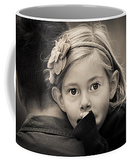 With Dad - B And W Coffee Mug