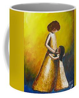 With Her Coffee Mug