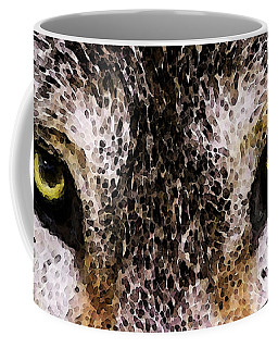 Wolf Eyes By Sharon Cummings Coffee Mug