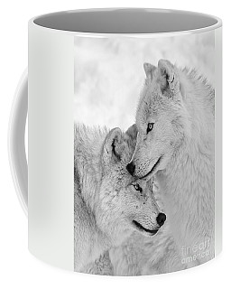 Wolf Love Black And White Coffee Mug