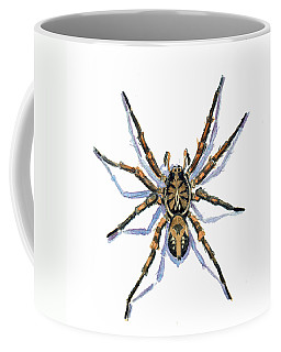 Coffee Mug featuring the painting Wolf Spider by Katherine Miller