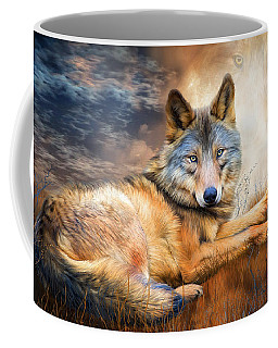 Wolf - Spirit Of Truth Coffee Mug by Carol Cavalaris