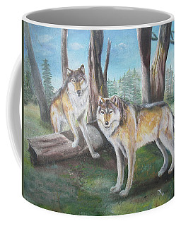 Wolves In The Forest Coffee Mug