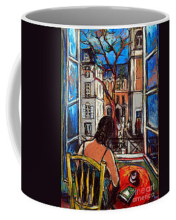 Woman At Window Coffee Mug