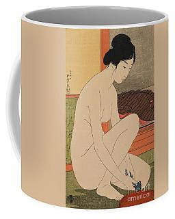 Woman Bathing Taisho Era Coffee Mug