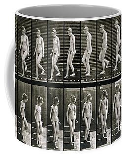 Woman Descending Steps Coffee Mug