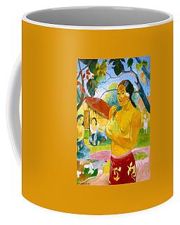 Woman Holding Fruit Coffee Mug by Henryk Gorecki