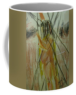 Woman In Sticks Coffee Mug by David Trotter