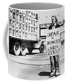 Woman Pickets In Salinas Coffee Mug