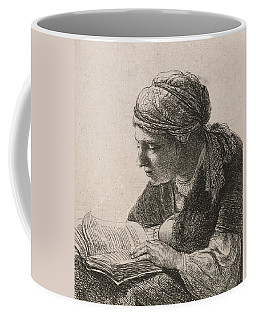 Woman Reading Coffee Mug