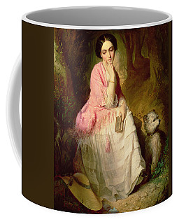 Woman Seated In A Forest Glade Coffee Mug
