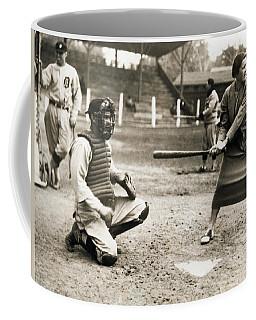 Woman Tennis Star At Bat Coffee Mug