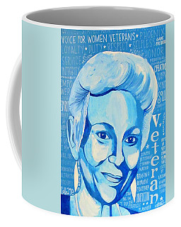 Coffee Mug featuring the painting Woman Veteran Gabe by Michelle Dallocchio
