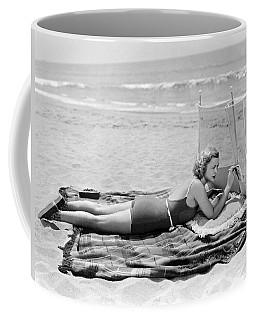 Woman With A Beach Screen Coffee Mug