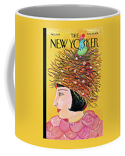 Woman With A Hat That Looks Like A Birds Nest Coffee Mug