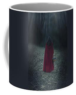 Woman With Basket Coffee Mug