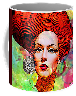 Woman With Earring Coffee Mug