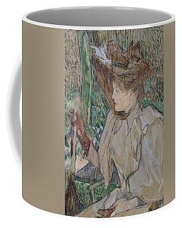 Woman With Gloves Coffee Mug