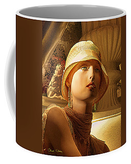 Woman With Hat - Chuck Staley Coffee Mug by Chuck Staley
