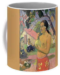 Woman With Mango Coffee Mug