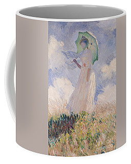 Woman With Parasol Turned To The Left Coffee Mug