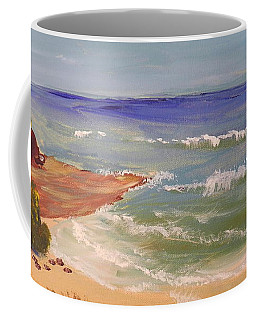 Coffee Mug featuring the painting Wombarra Beach by Pamela  Meredith
