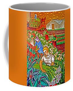 Women Gathering Flowers Coffee Mug