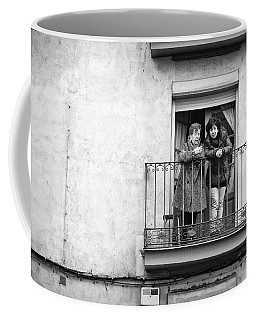 Women In Balcony Coffee Mug