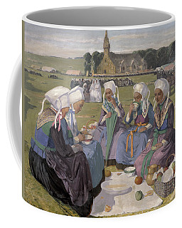 Women Of Plougastel At The Pardon Of Notre-dame De La Palud, 1903 Oil On Canvas Coffee Mug