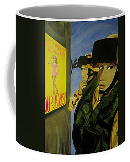 Coffee Mug featuring the painting Women Warriors And The Pinup by Michelle Dallocchio