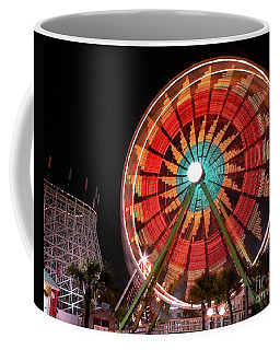 Wonder Wheel - Slow Shutter Coffee Mug by Al Powell Photography USA
