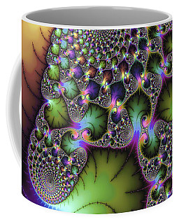 Wonderful Colored Fractal Art Square Format Coffee Mug by Matthias Hauser