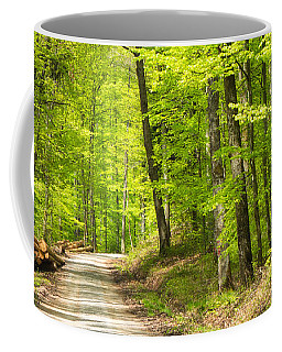 Wonderful Green Forest In Spring Coffee Mug