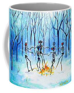 Coffee Mug featuring the painting Wonderland Ring by Heather Calderon