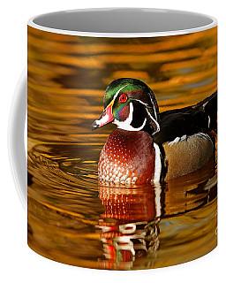 Wood-drake On The Golden Light Coffee Mug