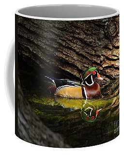 Wood Duck In Wood Coffee Mug