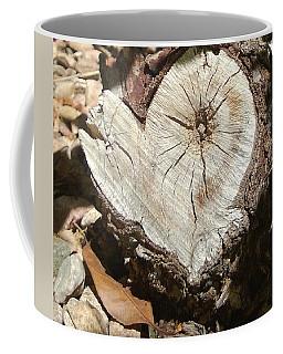 Wood Heart Coffee Mug