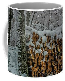 Wood Pile Coffee Mug by Paul Freidlund