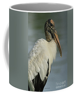 Wood Stork In Oil Coffee Mug