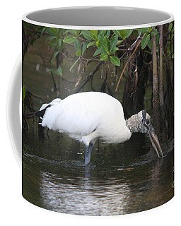 Wood Stork In The Swamp Coffee Mug by Christiane Schulze Art And Photography