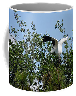Coffee Mug featuring the photograph Wood Stork by Ron Davidson