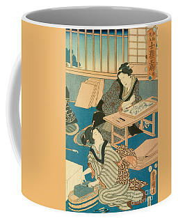 Woodblock Production Coffee Mug