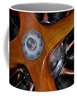 Coffee Mug featuring the photograph Wooden 4-blade Propeller by Nadalyn Larsen