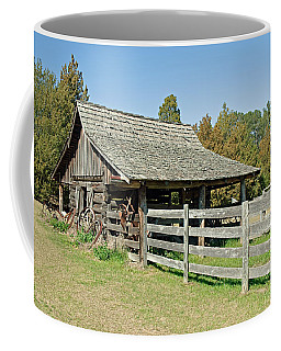 Coffee Mug featuring the photograph Wooden Barn by Charles Beeler
