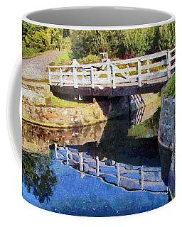 Coffee Mug featuring the digital art Wooden Bridge by Paul Gulliver